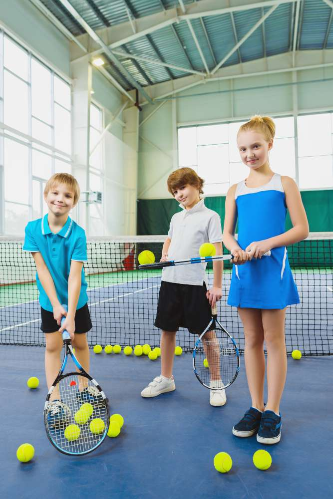 Indoor tennis lessons in London